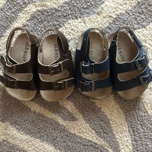 Old Navy Shoes - Old Navy Sueded Double Buckle Birkenstock Sandals